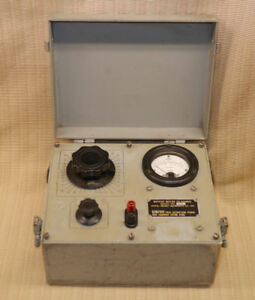 Vintage Military Output Meter Ts 585d u Verified Working Condition