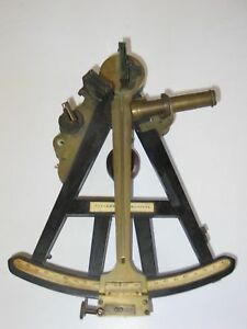 Vintage Sextant Signed King Son Bristol Scientific Optical Maritime Xixe