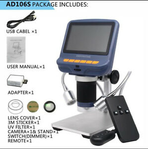 4 3 Inch Display Digital Usb Microscope Tht Smd Soldering Tool Magnifier Ad106s