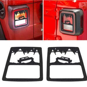 Car Tail Light Cover Guard Lamp Parts Accessories For 2018 Jeep Wrangler Jl Ya