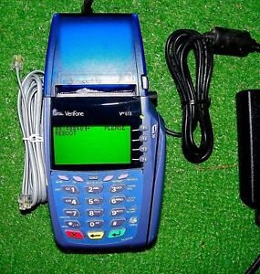Verifone Vx610 Credit Card Terminal With Power Supply Works