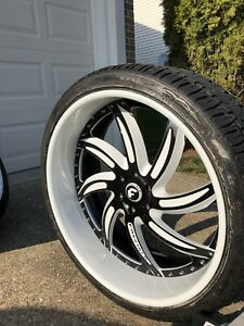 26 Forgiato 3pc Wheels With Floating Caps Fits Escalade Chevy Nissan Infiniti