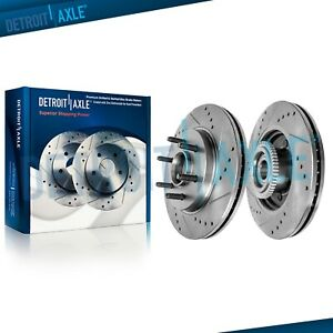 Front Drilled Slotted Brake Rotors 2004 2008 Ford F150 Lincoln Mark Lt Rwd