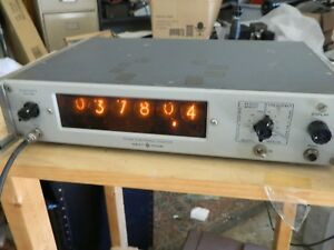 Hp 5532a Nixie Tube Frequency Counter Works