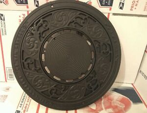 Antique Stover Mfg Co Freeport Ideal Cast Iron Wall Plate Stove Cover 15 3 4