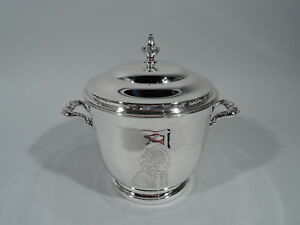 Poole Ice Bucket 55 Native Indian Chief Barware American Sterling Silver