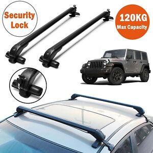 Car Roof Rack Carrier Cross Bar 43 Heavy Duty 120kg For Jeep Wrangler 1990 2014