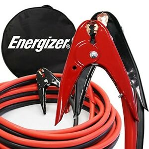 Energizer Jump Start Booster 2 Gauge Jumper Cables Vehicle Heavy Duty Clamps 16f