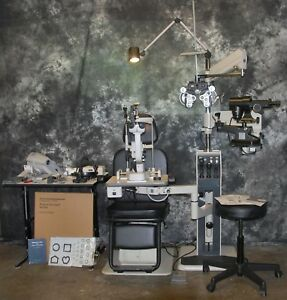 Reliance Chair Stand Ophthalmic Exam Lane Slit Lamp Phoroptor etc Complete