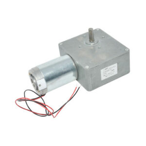 Dc12v 24v High Torque Worm Gear Motor 8mm Shaft Low Speed With Self lock 93gz868