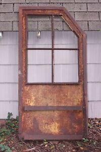 Antique Osgood Steam Shovel Door Bucyrus Caterpillar Wall Hanger Mancave Deere