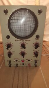 Vintage Heathkit Model 0 8 Oscilloscope Works With Manual