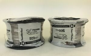 Lot Of 2 Southwire 500 ft 14 awg Stranded Brown Copper Thhn Wire by the roll