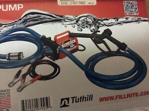 Fill rite Fr1614 Diesel Fuel Transfer Pump With Hoses 12 Volt 10 Gpm Model