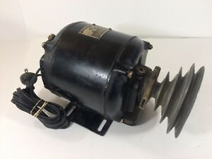 Antique Emerson Electric Motor 1622 25419 1 3 Hp 1725 Rpm Lathe Pulley works