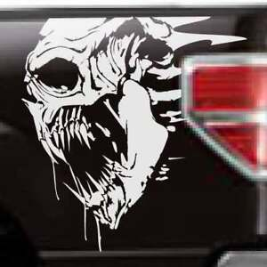 Chevy Dodge Ram Ford Grunge Skull Side Truck Vinyl Graphic Decal Bed Tailgate