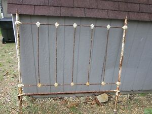 Antique Cast Iron Bed Frame Headboard Footboard