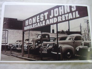1950 s Car Lot Truck Line Up Ford Studebaker Chevy 11 X 17 Photo Picture