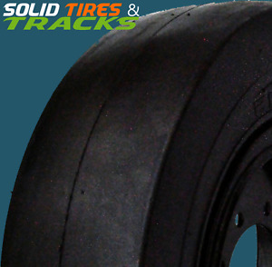 4 Solid Skid Steer Tires rims 10x16 5 30x9 16 12x16 5 33x9 16 Smooth Pattern