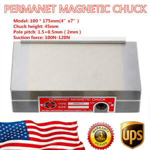 Permanent Magnetic Chuck 100 175mm Workholding Chucks Surface Grinder Us Stock