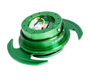Nrg Universal Steering Wheel Quick Release Hub Kit Gen 3 0 Green Body New