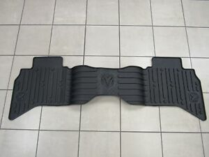 Dodge Ram Reg Quad Cab Rear Slush Floor Mats Dark Slate New Oem Mopar