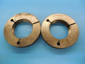 3 137 12 Ns 3 Thread Ring Gages Go No Go Pds 3 0829 3 0755 Quality Inspection