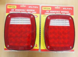 2pc Led Submersible Universal Combination Signal Tail Light Truck Lite Dot