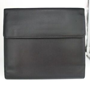 Levenger Soft Black Leather Card Coupon Holder Organizer New Without Box C