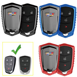 1pc Tpu Key Fob Cover Case For 2015 2018 Cadillac Xts Xt5 Ct6 Ats Cts Escalade