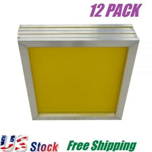 12 Pcs Aluminum Frame Silk Screen Printing Screens 20 X 24 With 305 Mesh Count