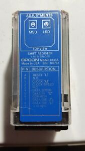 Opcon Logic Module Model 8730a 103731 Shift Register 1 To 64 Stages
