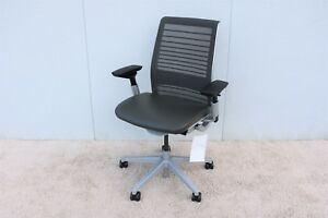Steelcase Think Ergonomic Executive Chair Fully Adjustable In 3d Knit Mesh Back