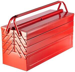 Laser Tool Bestseller Red Metal Toolbox Tool Box Cantilever 7 Tray Large 530mm