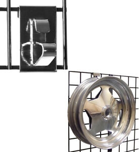 Gridwall Wheel Holder Grid Panel Wheel Rim Display Hook Chrome Wholesale