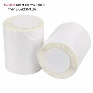 150 Rolls 4x6 Direct Thermal Shipping Barcode Blank Labels For Zebra 2844 Zp450
