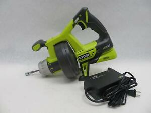 Ryobi Drain Auger Plumbing Snake Cordless 18v Lithium ion Ac Powered tool Only