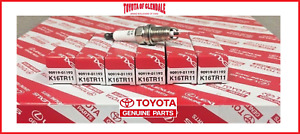 Toyota 4runner Tacoma Tundra T100 Spark Plug Set Of 6 Genuine Oem 90919 01192
