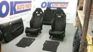 2013 Mustang Boss 302 Recaro Complete Interior Seat Set Black Cloth