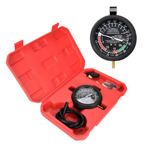 Car Fuel Pump Vacuum Tester Accurate Engine Carburetor Valve Gauge Tool Set