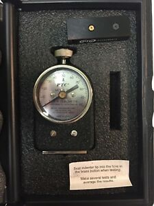 Ptc Model 306l Durometer Type A Astm D2240 68 With Test Block And Case