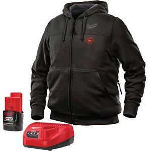 Milwaukee Hoodie M12 12v Lithium ion Heated Jacket Kit Front And Back Heat Zones