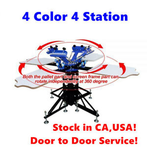 Usa 4 Color 4 Station Silk Screen Printing Machine Printing Press T shirt Print