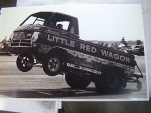 1960 s Dodge A100 Little Red Wagon On Race Track 11 X 17 Photo Picture