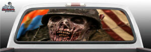 Zombies Dead Walking Military Army Flag Rear Window Graphic Decal Suv Truck Perf