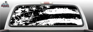 American Flag Distressed Vintage Perforated Rear Window Decal Graphic Suv Truck