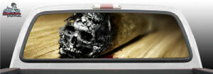 Skull Cigar End Smoke Death Perforated Rear Window Graphic Decal Suv Truck Car