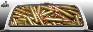 Ammunition Bullets Shot Gun Perforated Rear Window Graphic Decal Suv Truck