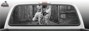 Woman Tattoo Back Sexy Perforated Rear Window Graphic Decal Suv Truck Car Perf