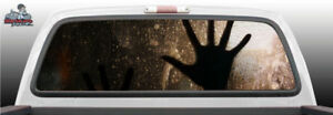 Hand On Window Print Glass Perforated Rear Window Graphic Decal Suv Truck Car